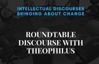 Flier for Roundtable Discourse with Theophilus