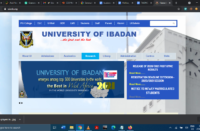 The University of Ibadan website homepage