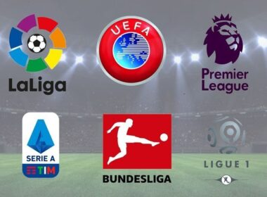 the top 5 leagues in Europe